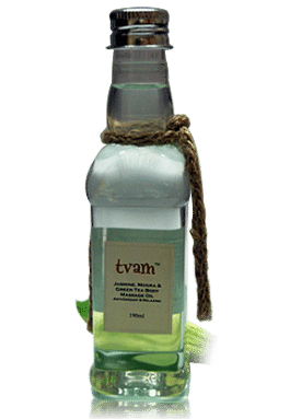 Body Massage Oil - Jasmine Mogra Green Tea - Tvam