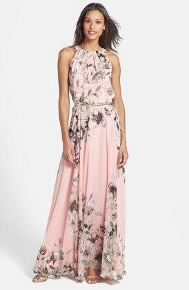 Floral Print Long Dress - Drape In Vogue