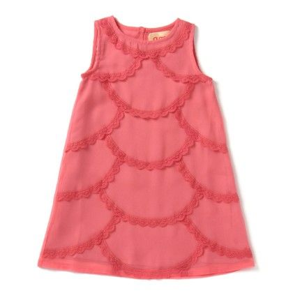 Girls Lace Dress In Baby Pink - Aomi By Appleofmyi