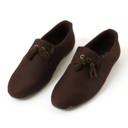 Slip-on Style Formal Shoes - Brown - BASH