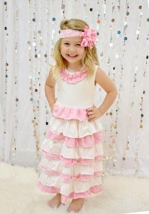 Princess Ruffle Maxi Dress - Dress Up Dreams