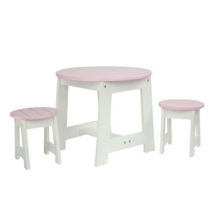 Little Princess Doll Furniture-outdoor Table & 2 Chairs Set - Teamson Kids
