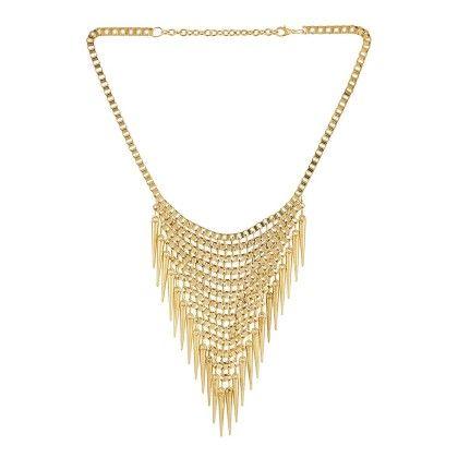 Voylla Style Statement Necklace In Gold
