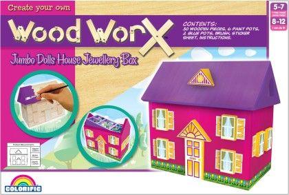 Wood Worx Jumbo Dolls House Jewellery Box - Colorific Education