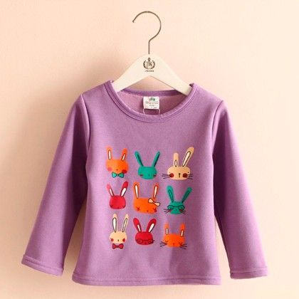 Bunny Printed T-shirt - Mauve Collection
