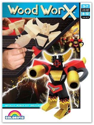 Wood Worx Robot Ranger Kit - Colorific Education