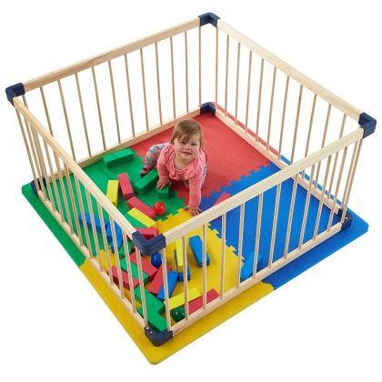 Jolly Kidz Smart Playpen - Square Natural - Colorific Education