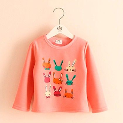 Peach Bunny T-shirt - Mauve Collection