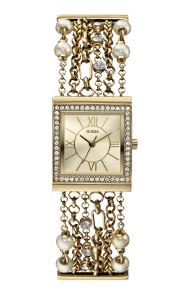 Guess Gold Tone Silk Watch - Guess Watches