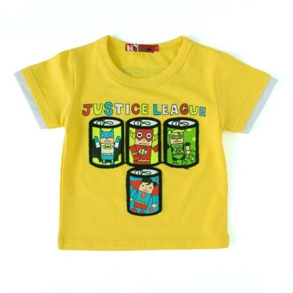 Justice League Yellow Round Neck T-shirt - NODDY