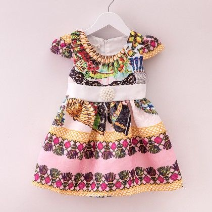 Print Pleated Spring Dress - Mauve Collection