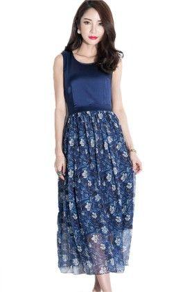 Stylish Blue Dress - Mauve Collection