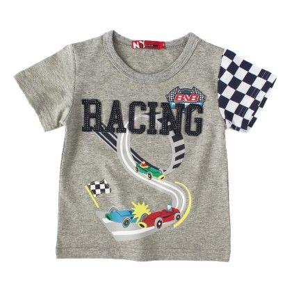 Racing Mellange Round Neck T-shirt - NODDY