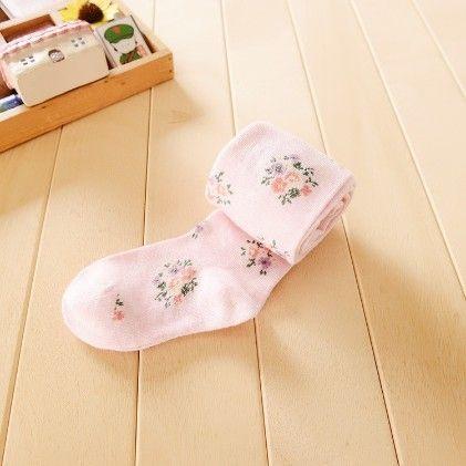 Waist High Stocking, Floral Pink - Cherry Blossoms