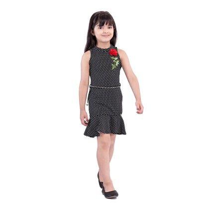 Black Polka Dot Dress - Tiny Baby