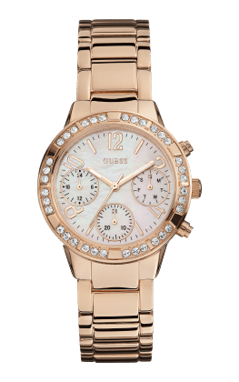 Guess Rose Gold Tone Mini Glam Hype Watch - Guess Watches