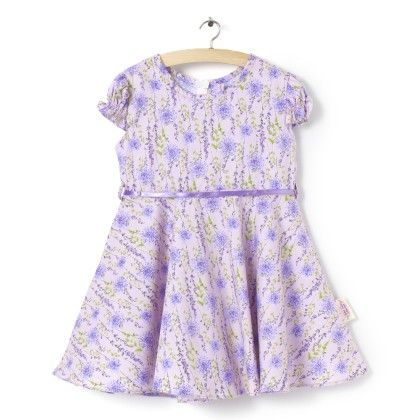 Short Sleeve With Floral Print - Dress - Little Fairy