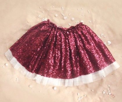 Wine Sequin Skirt - Mauve Collection