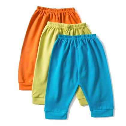 Asortted Track Pants Set Of 3 ( Single Stripe)- Orange  Green And Blue - ZERO