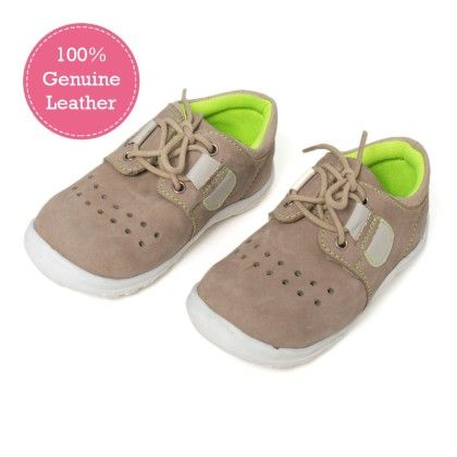 Beige Lace Tie Up Leather Shoes - Tuskey Shoes