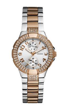 Guess Silver Tone-rose Gold Tone Mini Prism Watch - Guess Watches
