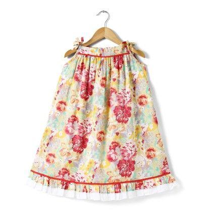 Multicolour Printed Cotton Summer Dress - Buttercups