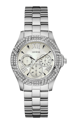 Guess Silver Tone Shimmer Watch - Guess Watches