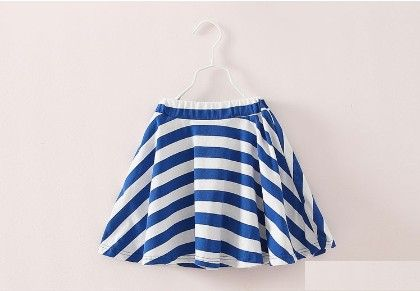 Blue Lovely Stripe Print Skirt - Mauve Collection