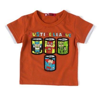 Justice League  Rust Round Neck T-shirt - NODDY