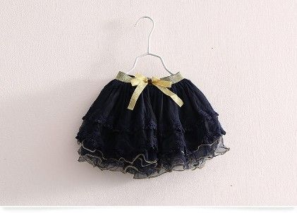 Navy Lace And Tutu Frill Skirt - Mauve Collection
