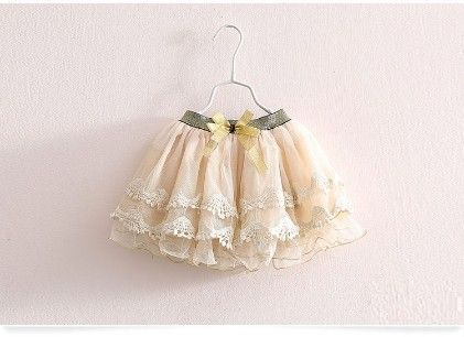 Beige Cute And Trendy Lace And Tutu Skirt - Mauve Collection