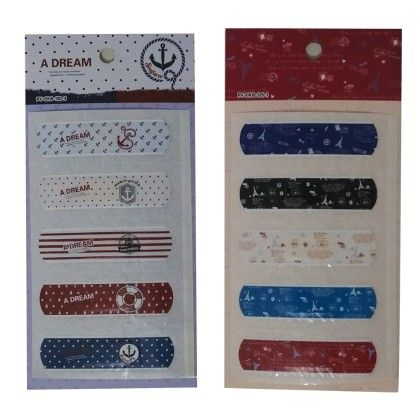 Assorted Set Of 10 Printed Band Aids - Total Gift Solutions