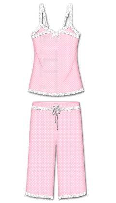 Love That Lace Capri Pj Set - Pink - Rene Rofe