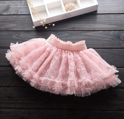 Pink - Lace And Pearl Skirt - Mauve Collection