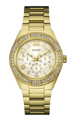 Guess Gold Tone Luna Watch - Guess Watches