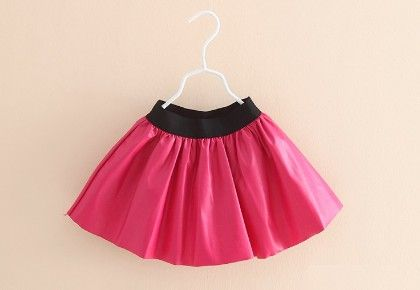 Pink Classic Leather Look Skirt - Mauve Collection