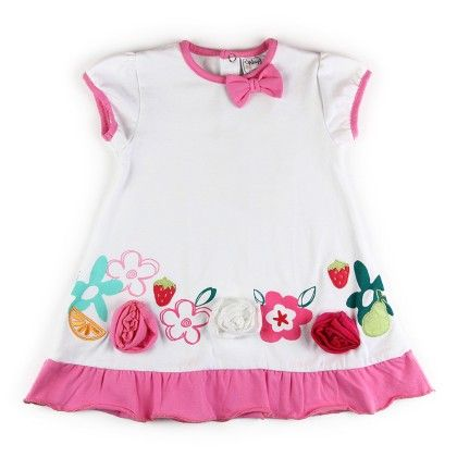 Rose And Bow Frock - WSP! Kids