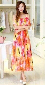 Bright Spring Summer Maxi Dress - Oomph