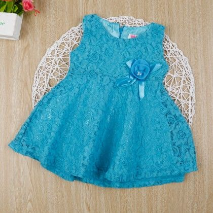 Blue Classy Floral Lace Dress - Gianna