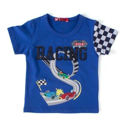 Racing Royal Round Neck T-shirt - NODDY