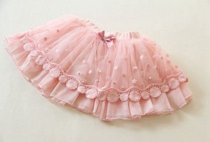 Pink Lace And Pearl Skirt - Mauve Collection