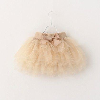Beige Tutu Skirt - Mauve Collection