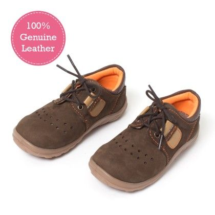 Brown Lace Tie Up Leather Shoes - Tuskey Shoes