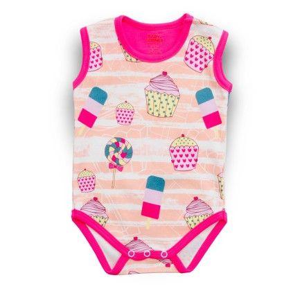 Cupcake Sleeveless Bodysuit - Baby Corner