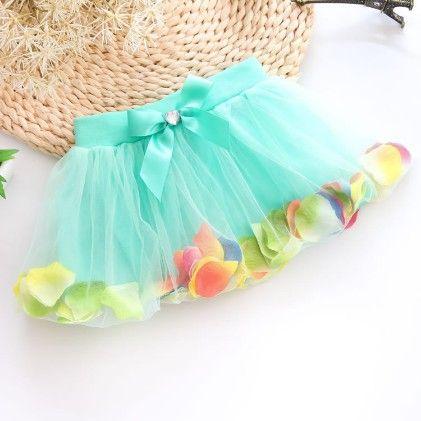 Blue Beautiful Petals Filled Skirt - Mauve Collection