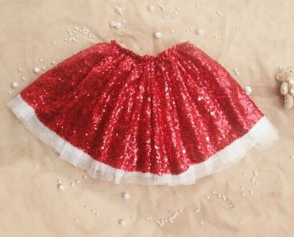 Red Sequin Skirt - Mauve Collection