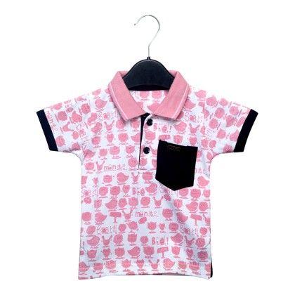 Pink Collar T-shirt - Addis