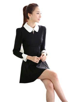 Black Short Dress - Mauve Collection