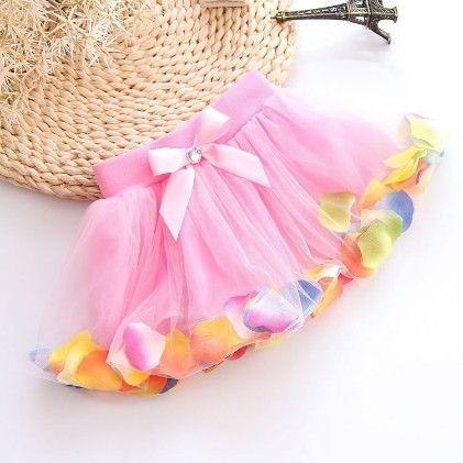 Beautiful Petals Frill Skirt - Mauve Collection