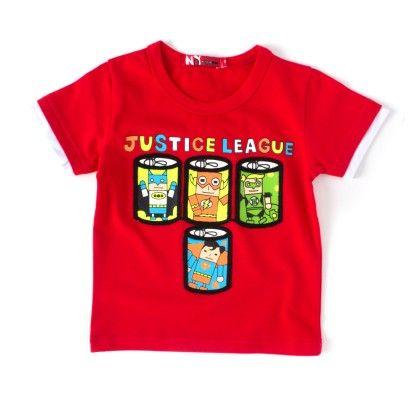 Justice League  Red Round Neck T-shirt - NODDY